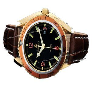 Orkina Watch Men Quartz Business Sport Leather Band Wrist Watches Brand New OKN163 at  Men's Watch store.