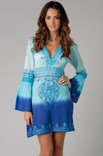 Debbie Katz South Beach Women's Cottons Tunic Swim Cover Up at  Women�s Clothing store: Fashion Swimwear Cover Ups
