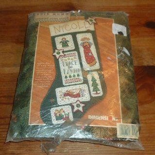 Christmas Peace On Earth Stocking Counted Cross Stitch Kit
