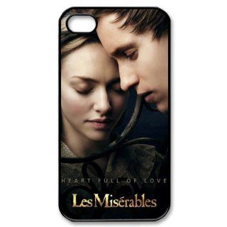 CTSLR Movie & Teleplay Series Protective Hard Case Cover for iPhone 4 & 4S   1 Pack   Les Miserables   Cosette & Marius Pontmercy(Amanda Seyfried & Eddie Redmayne) 2 Books