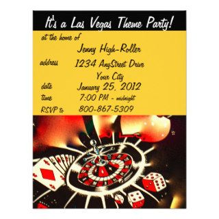 Las Vegas Casino Theme Party Announcements