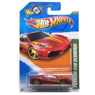 HOT WHEELS 2012 TREASURE HUNT EDITION RED FERRARI 430 SCUDERIA DIE CAST Toys & Games