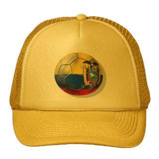 Ecuador Elt Tri soccer futbol ball gifts Mesh Hats