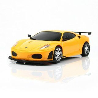 118 Rechargeable Radio Remote Control Emulation Sports Racing Race Car Toy Yellow[ship From Usa]