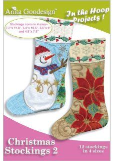 Anita Goodesign Embroidery Machine Designs CD CHRISTMAS STOCKINGS 2   Home And Garden Products