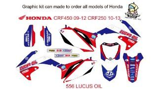 HONDA CRF 450 2009 2012 CRF 250 2010 2013 NO.556 LUCAS OIL (CR 125 250 2000 2001): Sports & Outdoors