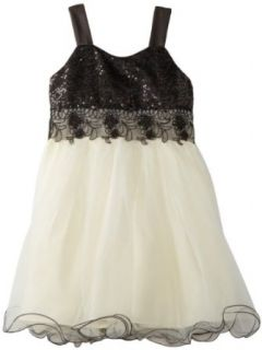 Bonnie Jean Girls 7 16 Sequin To Tulle Dress Clothing