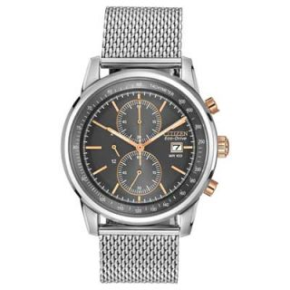 Mens Citizen Eco Drive™ Chronograph Watch with Grey Dial (Model