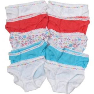 Fruit of the Loom Girls Bikini Cotton Panties 10 Pack (4 16 Years) Assorted, 8 Briefs Underwear Clothing