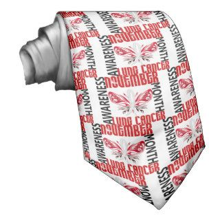 Lung Cancer Awareness Month Butterfly 3.4 Tie