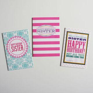 sister birthday card by love faith and hope