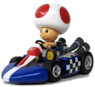 "Nintendo Mario Kart Wii 3"" Pull Back Action Toy Race Car   Toad: Everything Else"