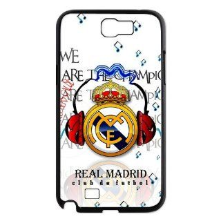 Custom Your Own Samsung Galaxy Note 2 N7100 Case design with Real Madrid Football Club LOGO Personalized Real Madrid SamSung Note 2 Case Cover: Cell Phones & Accessories