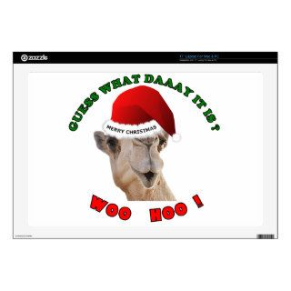 "hump day camel merry christmas skin for 17"" laptop"