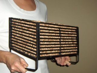 Wood Pellet Basket Heater, Alternative Heating Source Using Wood Pellets in Your Wood Stove or Fireplace   Camping Stoves