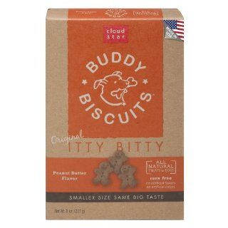 Cloud Star Itty Bitty Buddy Biscuits Dog Treats, Peanut Butter Madness, 8 Ounce Boxes (Pack of 6) : Pet Snack Treats : Pet Supplies