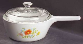 Corning Wildflower 1.5 Pint Menuette Pan & Lid, Fine China Dinnerware   Corelle,
