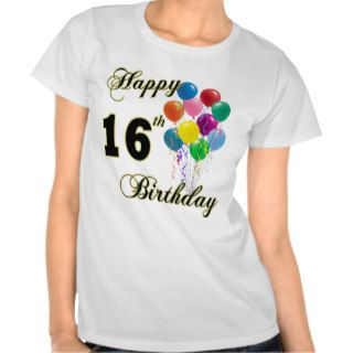 Happy 16th Birthday T Shirt
