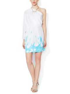 Akela Silk One Shoulder Dress by Diane von Furstenberg