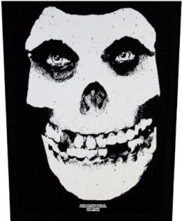 XLG Misfits Classic White Skull Rock Music Band Woven Applique Patch