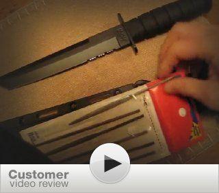 Ka Bar 2 1245 1 Black Tanto Knife : Hunting Knives : Sports & Outdoors