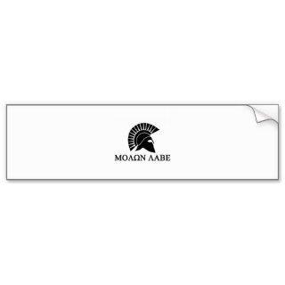 Spartan Helmet Molon Labe Bumper Sticker