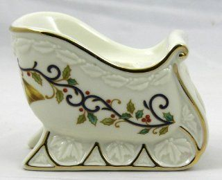 Mikasa Holly Sleigh Taper Candle Holder Candleholder Fine Porcelain KT410/550