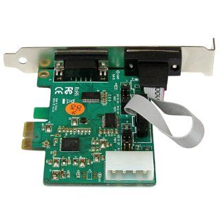 StarTech 2 Port Industrial PCI Express (PCIe) RS232 Serial Card with Power Output and ESD Protection (PEX2S553S) Computers & Accessories