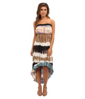 Angie Tie Dye Print Maxi Tube Dress Womens Dress (Blue)