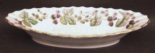 Royal Worcester Lavinia White (Bone) Relish, Fine China Dinnerware   Bone,Berrie