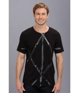 Calvin Klein Jeans Brush Stroke X Mens T Shirt (Black)