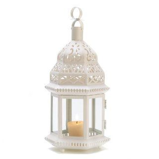 Shop Gifts & Decor White Moroccan Style Hanging Candle Lantern Centerpiece at the  Home D�cor Store