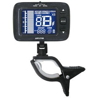 AMT 570B Digital RECHARGEABLE Clip On Metronome and Tuner Guitar, Bass, Violin, Viola and Chromatic Instruments Musical Instruments