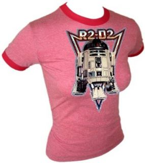 Star Wars A New Hope 1977 George Lucas R2 D2 Vintage Sexy Woman's Ringer Iron On T Shirt , small Clothing