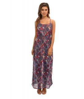 Angie Printed Maxi Dress Womens Dress (Blue)