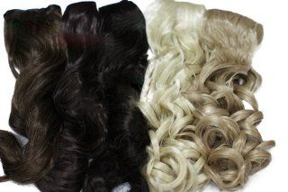 L email Clip Extension Hair Piece Long Wave Hair Wig Black Colors Pj09 blonde Health & Personal Care
