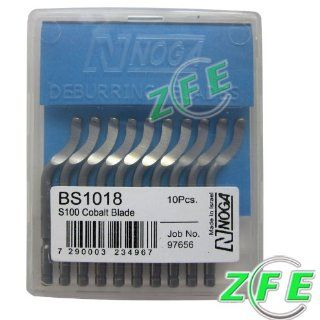10Pcs NOGA BS1018 S100 Cobalt Blades Deburring Tool