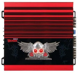 NEW Car Audio System 4 Channel Amplifier Power Acoustik Demon Series w Remote  Vehicle Multi Channel Amplifiers