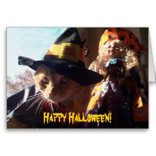 Halloween Kitty, Happy Halloween Card