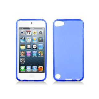 Clear Blue Flex Cover Case for Apple iPod Touch 5 5G: Cell Phones & Accessories