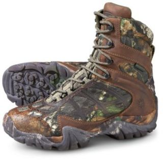 "Men's Wolverine 8"" Waterproof 600 gram Thinsulate Ultra Insulated Snare Boots Mossy Oak, MOSSY OAK, 11M: Shoes"