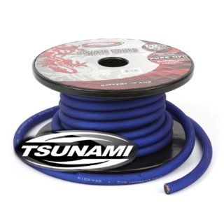 Tsunami PR601BL 25 1/0 Gauge Power Cable (25 Feet, Blue)  Vehicle Amplifier Power And Ground Cables