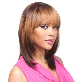 IT'S A WIG Human Hair Wig   YAKI 1012 Color   #4/30   Light Brown/Medium Brown Red  Hair Replacement Wigs  Beauty