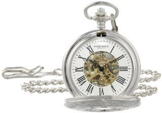 Akribos XXIV AK609SS Bravura Vintage Mechanical Skeleton Chain Pocket Watch at  Men's Watch store.
