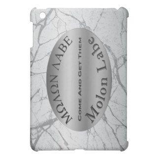 Molon Labe 2nd Amendment Gun Rights Slogan Silver iPad Mini Cases