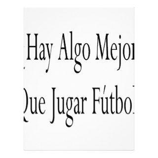 Hay Algo Mejor Que Jugar Futbol Personalized Flyer