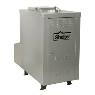 Shelter Furnace SF3042 140,000 BTU Outdoor Wood/Coal Burning Forced Air Furnace Heating, Cooling, & Air Quality