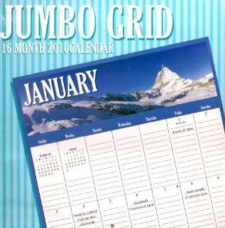 2010 Jumbo Grid Wall Calendar  At A Glance Big Grid Wall Calendars