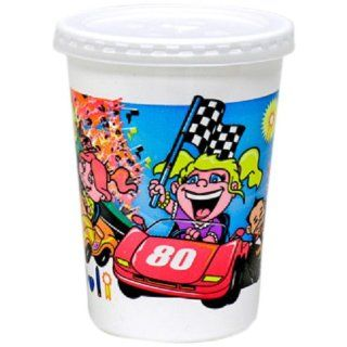 WNA Fun Cups VK2CARS Disposable Kids' Cup with Lid, 12 Ounce Capacity, Race Cars (Case of 250): Industrial & Scientific