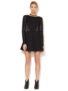 Rio Leather Sleeve Dress by Stella & Jamie